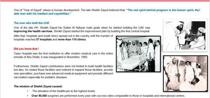 April – Zayed & the human Health – 2018