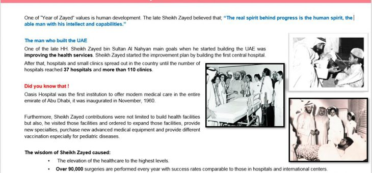 April – Zayed & the human Health – 2018
